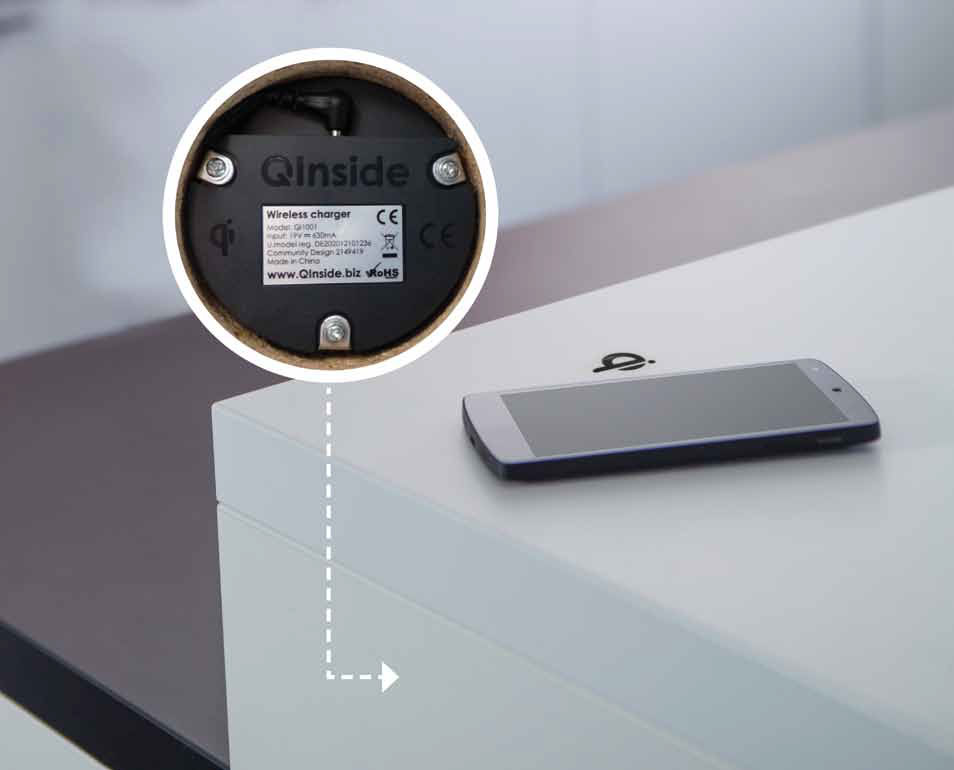 As by magic, now the kitchen worktop recharges smart phones